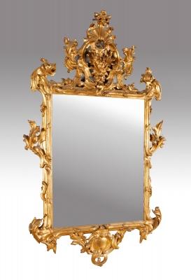 Espejo. España, siglo XVIII, estilo Carlos III.