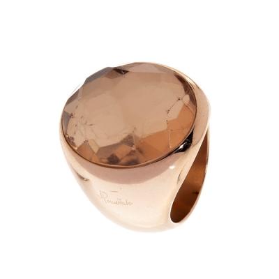 Sortija POMELLATO en oro rosa de 18 kts, modelo sello o