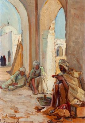 """""""Escena orientalista"""", ca. 1900. RENÉE TOURNIOL"""