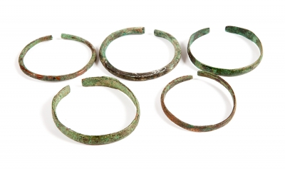 Conjunto de cinco pulseras visigodas, siglos V-VIII aprox.