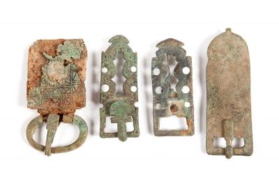 Conjunto de cuatro hebillas visigodas, siglos V-VIII aprox.