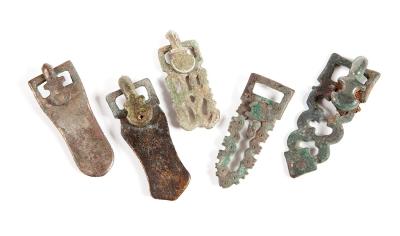 Conjunto de cinco hebillas visigodas, siglos V-VIII aprox.