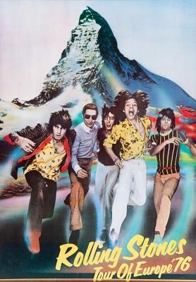 THE ROLLING STONES.Cartel original del primer concierto de The Rolling Stones en España en el año 1976.