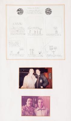 CHARLIE WATTS.Conjunto de dibujos impresos de Charlie Watts del disco