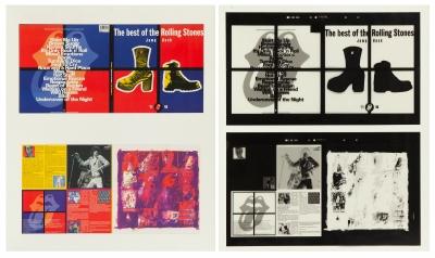 Carátulas y contraportada del álbum The best of the Rol...