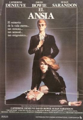"""DAVID BOWIE.Cartel original de la película """"El ansia"""", 1983."""