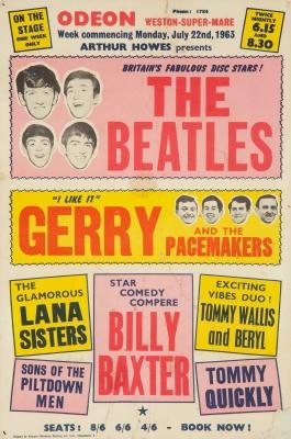 Cartel promocional original del concierto de The Beatle...