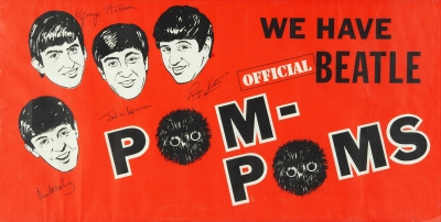 "Póster ""We have Official Beatle Pom-Poms""."