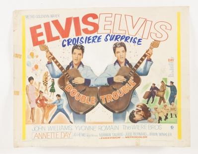 """ELVIS PRESLEY. Cartel original """"Elvis: Croisière Surprise (Double Trouble)"""", 1967."""