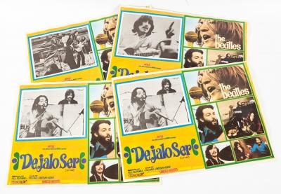 THE BEATLES.Conjunto de cuatro cartelas originales de