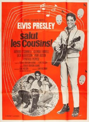 ELVIS PRESLEY. Cartel de época de la película