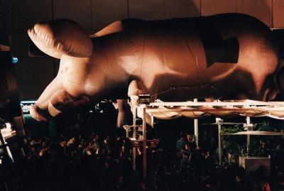 PINK FLOYD. Cerdo hinchable de Pink Floyd.