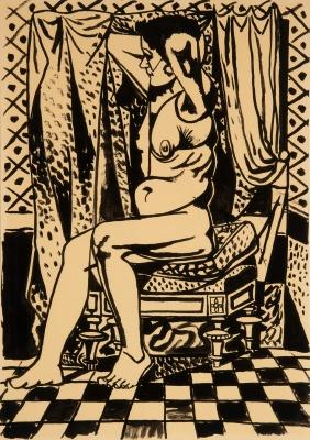 """Desnudo femenino"".  RAFAEL ZABALETA FUENTES"