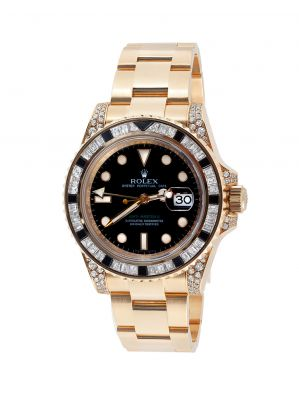 ROLEX GMT-Master II Bezel Diamond & Sapphire watch, ref. 116758SANR, n.