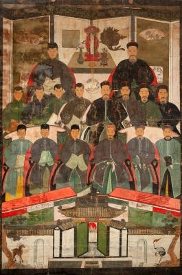 """""""Retrato de la ancestral Corte Imperial"""" Escuela china..."""