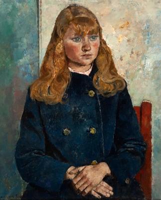 """""""Retrato de niña sentada"""" JOSÉ MARÍA MALLOL SUAZO"""
