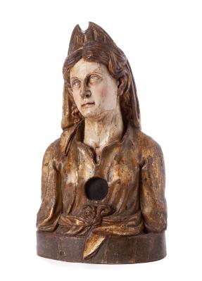 Busto relicario. España, siglo XVI.