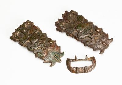 Conjunto de tres piezas pertenecientes a cinturón merov...