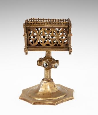 Portador de reliquias gótico-flamígero, siglo XV.