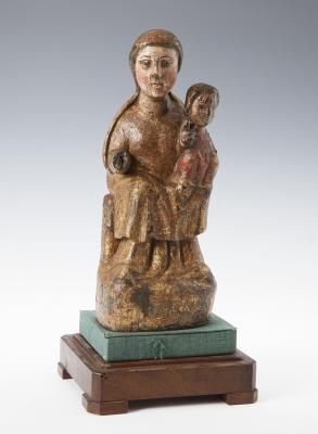 """""""Virgen con el Niño"""" Talla románica. Andorra, Siglo XII"""