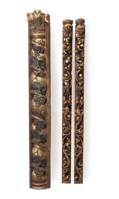 Conjunto de media columna y pareja de montantes, siglos XVII-XVIII.