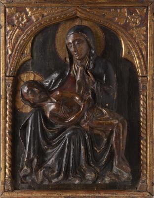 """""""Piedad"""".  Relieve gótico. España, siglo XIV-XV."""