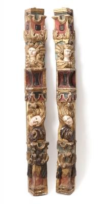 Pareja de pilastras barrocas. España, siglo XVII.