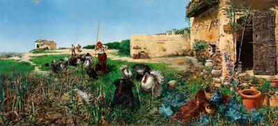 SALVADOR CLEMENTE Y PÉREZ (Cádiz, 1859- Madrid, 1909).Untitled, Seville.