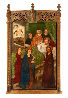 """""""Muerte de un santo, probablemente San Jerónimo"""" Escuel..."""