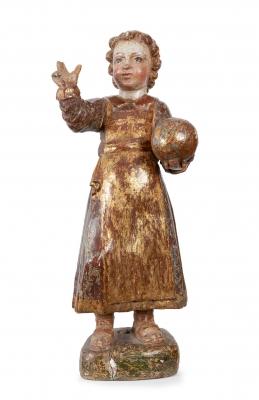 """""""Niño de la Bola"""" Escuela española del siglo XVI."""
