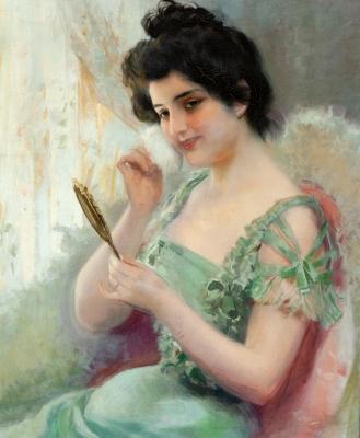 """""""Retrato femenino"""", 1899.  ANTONI UTRILLO VIADERA"""
