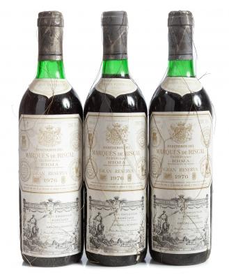 Botella de Marqués de Riscal, Gran Reserva de 1976.