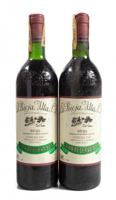 Dos botellas de La Rioja Alta 904, Gran Reserva de 1983.
