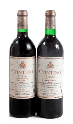 Dos botellas de Contino Reserva 1987.