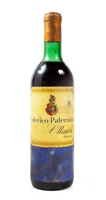 Botella de Federico Paternina, Gran Reserva de 1928.