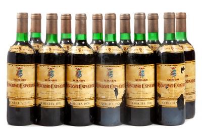 Doce botellas Reserva Especial, Gran Reserva de 1976.