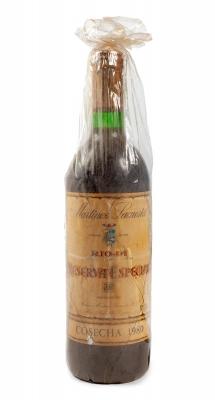 Botella de Reserva Especial, Gran Reserva de 1980.