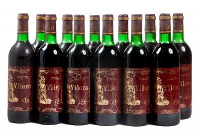 Doce botellas de Yllera Reserva 1989.