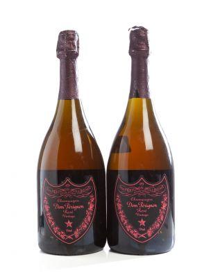 Dos botellas de Dom Pérignon Rosé Vintage Millésime, 2005.