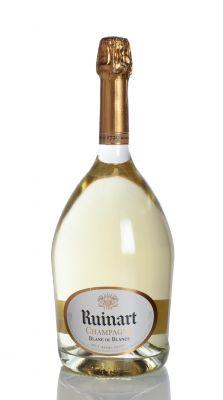 Botella de Dom Ruinart Blanc de Blancs. Categoría: champagne brut.