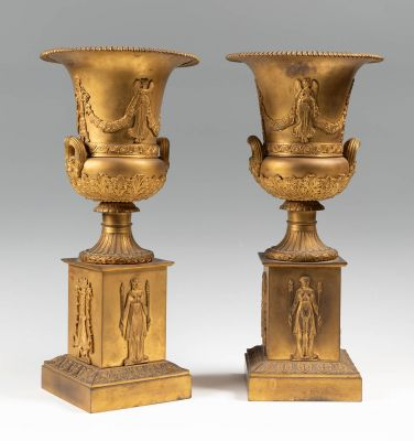 Important couple of Empire glasses. France, c.