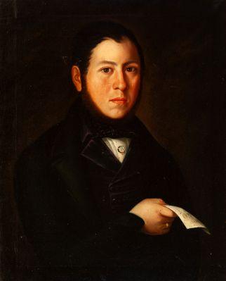 Escuela española del siglo XIX. Retrato masculino.