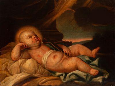 """Niño Jesús"". Escuela española del siglo XVIII."
