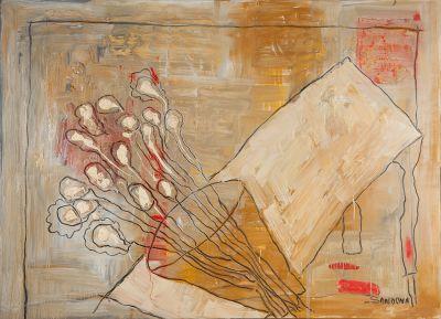 """Flores"", 2002. PEDRO SANDOVAL ORTA"