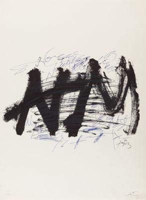 """ANTONI TÀPIES PUIG (Barcelona, 1923 – 2012). """"Nocturn Matinal"""", 1970."""