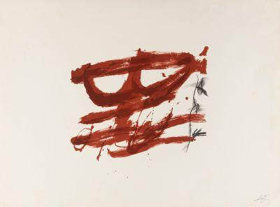 "ANTONI TÀPIES PUIG (Barcelona, 1923-2012). Sin título, de la carpeta ""Nocturn Matinal"", 1970."