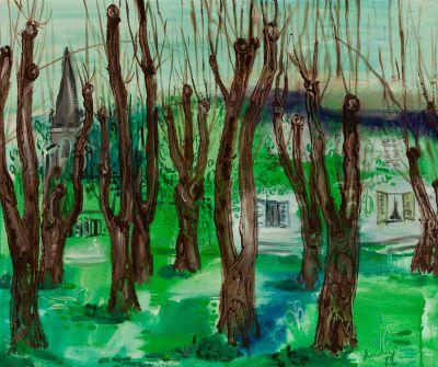 """CARLES NADAL FARRERAS (París, 1917 – Sitges, Barcelona, 1998). """"Langres"""", 1982."""