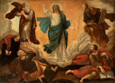 """""""La transfiguración de Cristo"""" Escuela valenciana del siglo XVII."""