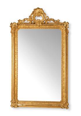 Monumental espejo isabelino. España, ca.