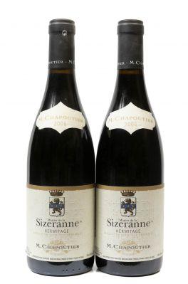 Dos botellas M. Chapoutier Monier de la Sizeranne, 2006.